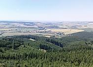 Z kamenné rozhledny Brdo ve Chřibech, 587m n.m