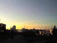 Západ slunka v Modřanech