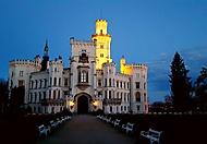 Noční zámek Hluboká nad Vltavou