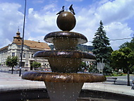 Fontána na námestí v Brezne
