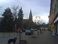 kostel a náměstí