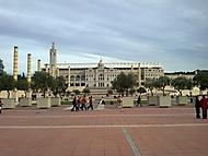 Průčelí olympijského stadionu, Barcelona