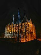 Kutná Hora, Chrám sv.Barbory v noci