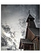 Kostolík vo westerovom mestečku