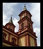 Věže kostela Božského spasitele v Ostravě (rebel1) – Nokia N82