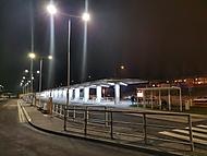 Noční autobusové nádraží v Blansku