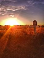 Na kole, západ slunce v Moravském krasu..HDR
