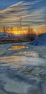 Začátek zimy u tratě
