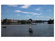 Praha pohledem z Karlova mostu
