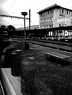 Beroun z vlaku