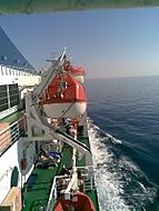 na loďce