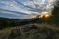 Náchod při západu slunce