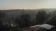 Zimní smogová krajina