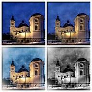 Poutní kostel Křtiny.v noci, úpravy