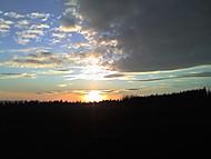 Západ slunce ve Východních čechách