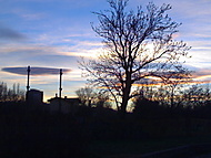 Západ slunce na Palmovce