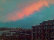 růžová obloha