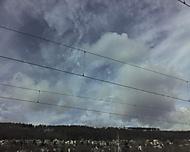 Hezké mraky z radotínského nádraží