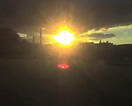 Západ slunce nad zlínem