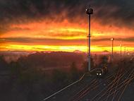 Podzimní ráno na železnici