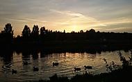 Západ slunce nad Vltavou