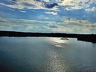 Vodní nádrž Jesenice - zatopený most