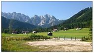 Vesnička Gosau v Rakousku