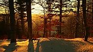 Západ slunce v Beskydech