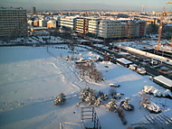 Západ slunce na Pankráci