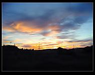 Západ slunce nad Pískem