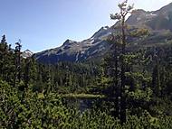 Utajené jezírko v Alpách - pod Weisssee