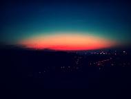 Východ slunce nad Prahou