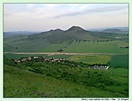 Raná u Loun pohled z vrcholu kopce