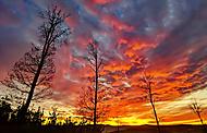 Západ slunce v Brdech