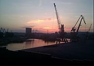 Západ slnka z Prístavného mosta