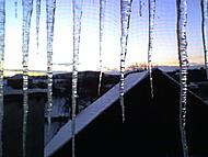 Zimní pohled z okna