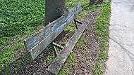 Strom požírá lavičku