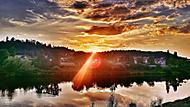 Západ slunce nad Vltavou...