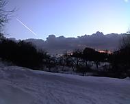 Západ slunce a letadlo