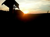 Cyklostezka při západu slunce