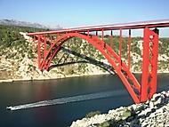 Most přes zátoku v  Chorvatsku