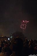 Novoroční ohňostroj 2013 - Vzpomínka na Václava Havla
