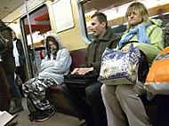 V metru.