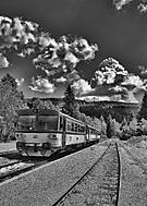 Osobní vlak na nejvýše položeném nádraží v ČR - Kubova huť