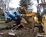 umění delníků při výstavbě kanalizace :-)