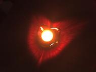 srdce ze světla svíčky