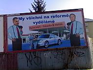 Billboard,který jste mohli vidět v lednu 2008