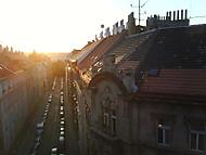 západ slunce v Praze