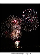 Novoroční ohňostroj v Praze 2013