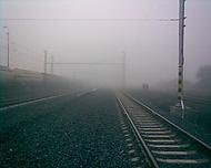 Mlha na železnici